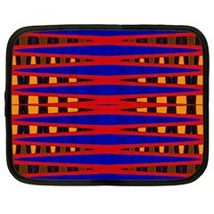 Bright Blue Red Yellow Mod Abstract Netbook Case (large) by BrightVibesDesign