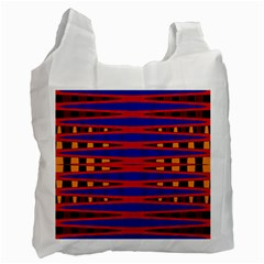 Bright Blue Red Yellow Mod Abstract Recycle Bag (one Side)