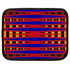 Bright Blue Red Yellow Mod Abstract Netbook Case (xl)