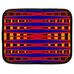 Bright Blue Red Yellow Mod Abstract Netbook Case (xxl)