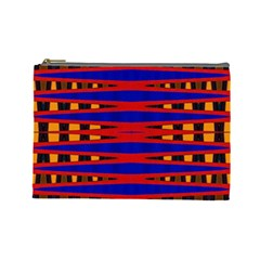 Bright Blue Red Yellow Mod Abstract Cosmetic Bag (large)