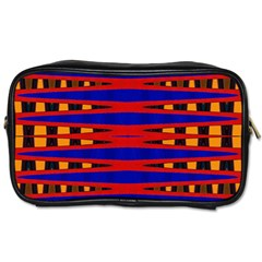 Bright Blue Red Yellow Mod Abstract Toiletries Bags by BrightVibesDesign