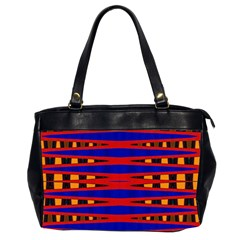 Bright Blue Red Yellow Mod Abstract Office Handbags (2 Sides)