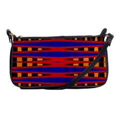 Bright Blue Red Yellow Mod Abstract Shoulder Clutch Bags