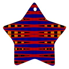 Bright Blue Red Yellow Mod Abstract Ornament (star)