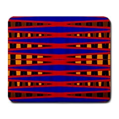 Bright Blue Red Yellow Mod Abstract Large Mousepads