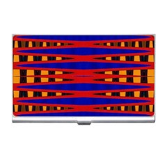 Bright Blue Red Yellow Mod Abstract Business Card Holders