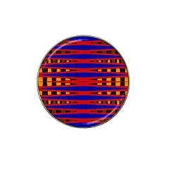 Bright Blue Red Yellow Mod Abstract Hat Clip Ball Marker