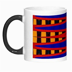 Bright Blue Red Yellow Mod Abstract Morph Mugs