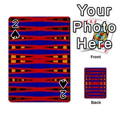 Bright Blue Red Yellow Mod Abstract Playing Cards 54 Designs