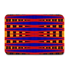 Bright Blue Red Yellow Mod Abstract Plate Mats