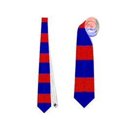 Bright Blue Red Yellow Mod Abstract Neckties (two Side)