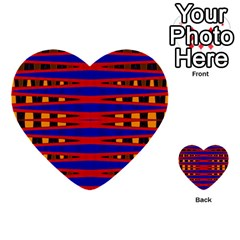 Bright Blue Red Yellow Mod Abstract Multi Purpose Cards (heart)
