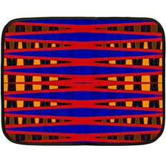 Bright Blue Red Yellow Mod Abstract Double Sided Fleece Blanket (mini)