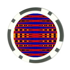 Bright Blue Red Yellow Mod Abstract Poker Chip Card Guards (10 Pack)