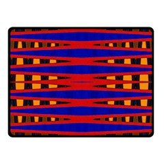 Bright Blue Red Yellow Mod Abstract Fleece Blanket (small)