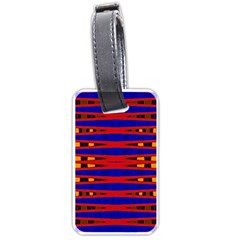 Bright Blue Red Yellow Mod Abstract Luggage Tags (one Side)  by BrightVibesDesign