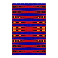 Bright Blue Red Yellow Mod Abstract Shower Curtain 48  X 72  (small)