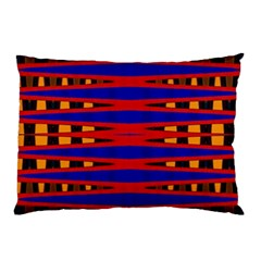 Bright Blue Red Yellow Mod Abstract Pillow Case (two Sides)