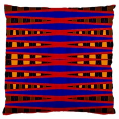 Bright Blue Red Yellow Mod Abstract Large Cushion Case (two Sides)
