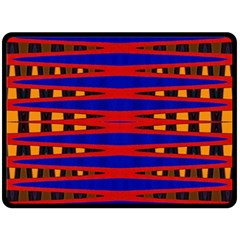 Bright Blue Red Yellow Mod Abstract Double Sided Fleece Blanket (large)  by BrightVibesDesign