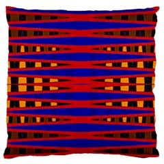 Bright Blue Red Yellow Mod Abstract Large Flano Cushion Case (two Sides)