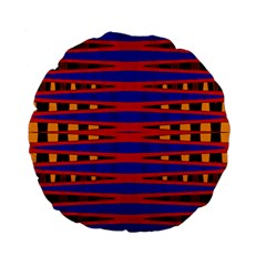 Bright Blue Red Yellow Mod Abstract Standard 15  Premium Flano Round Cushions
