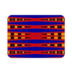 Bright Blue Red Yellow Mod Abstract Double Sided Flano Blanket (mini)