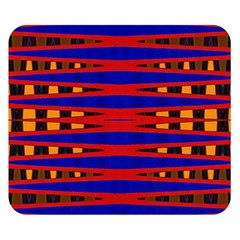 Bright Blue Red Yellow Mod Abstract Double Sided Flano Blanket (small)