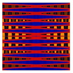 Bright Blue Red Yellow Mod Abstract Large Satin Scarf (square)