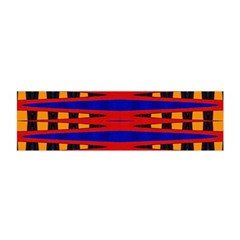 Bright Blue Red Yellow Mod Abstract Satin Scarf (oblong)
