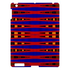Bright Blue Red Yellow Mod Abstract Apple Ipad 3/4 Hardshell Case by BrightVibesDesign