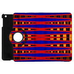 Bright Blue Red Yellow Mod Abstract Apple Ipad Mini Flip 360 Case