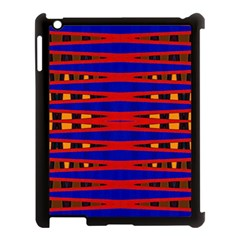 Bright Blue Red Yellow Mod Abstract Apple Ipad 3/4 Case (black)