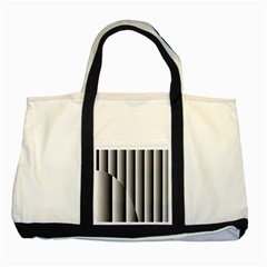 New 14 Two Tone Tote Bag by timelessartoncanvas