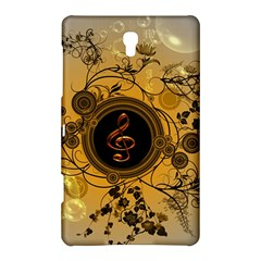 Decorative Clef On A Round Button With Flowers And Bubbles Samsung Galaxy Tab S (8 4 ) Hardshell Case
