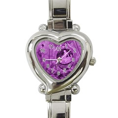 Vintage Purple Lady Cameo Heart Italian Charm Watch by BrightVibesDesign