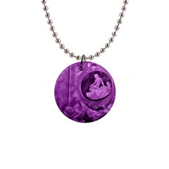 Vintage Purple Lady Cameo 1  Button Necklace by BrightVibesDesign