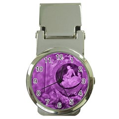 Vintage Purple Lady Cameo Money Clip Watch by BrightVibesDesign