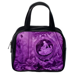 Vintage Purple Lady Cameo Classic Handbag (one Side) by BrightVibesDesign