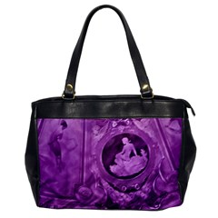 Vintage Purple Lady Cameo Oversize Office Handbag by BrightVibesDesign