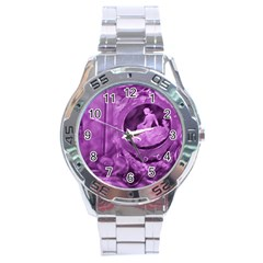 Vintage Purple Lady Cameo Stainless Steel Analogue Watch by BrightVibesDesign