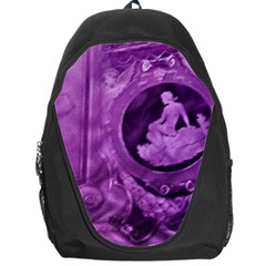 Vintage Purple Lady Cameo Backpack Bag by BrightVibesDesign