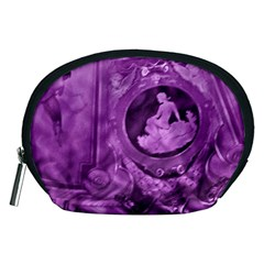 Vintage Purple Lady Cameo Accessory Pouch (medium) by BrightVibesDesign