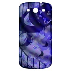 Blue Theater Drama Comedy Masks Samsung Galaxy S3 S III Classic Hardshell Back Case