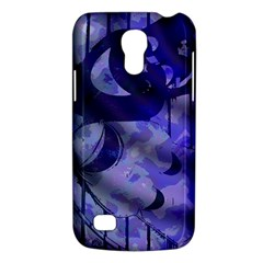 Blue Theater Drama Comedy Masks Galaxy S4 Mini by BrightVibesDesign