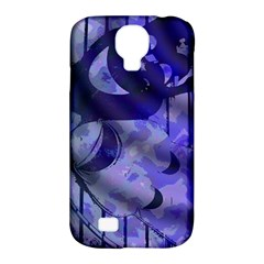 Blue Theater Drama Comedy Masks Samsung Galaxy S4 Classic Hardshell Case (PC+Silicone)
