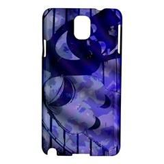 Blue Theater Drama Comedy Masks Samsung Galaxy Note 3 N9005 Hardshell Case