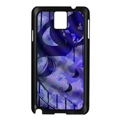 Blue Theater Drama Comedy Masks Samsung Galaxy Note 3 N9005 Case (Black)
