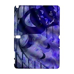 Blue Theater Drama Comedy Masks Samsung Galaxy Note 10.1 (P600) Hardshell Case